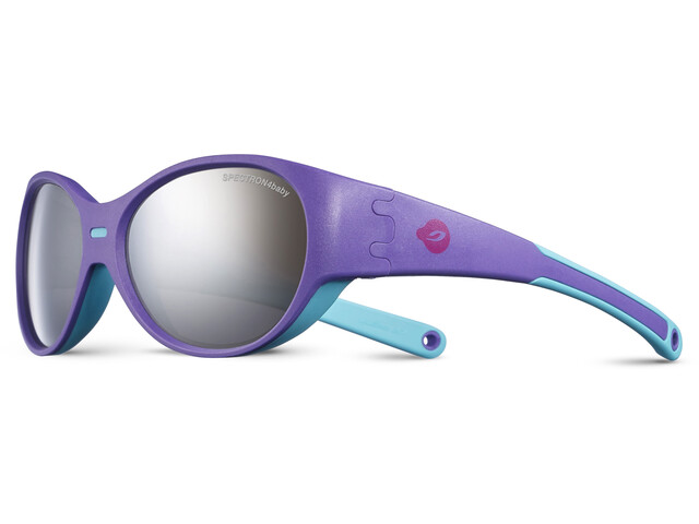 Julbo Kids 3-5Y Puzzle Spectron 4 Sunglasses Purple/Turquoise-Gray Flash Silver